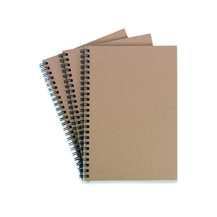 Wholesale Kraft Paper Cover Wire O Double Line A4 A5 Notebook Spiral Cahier For School