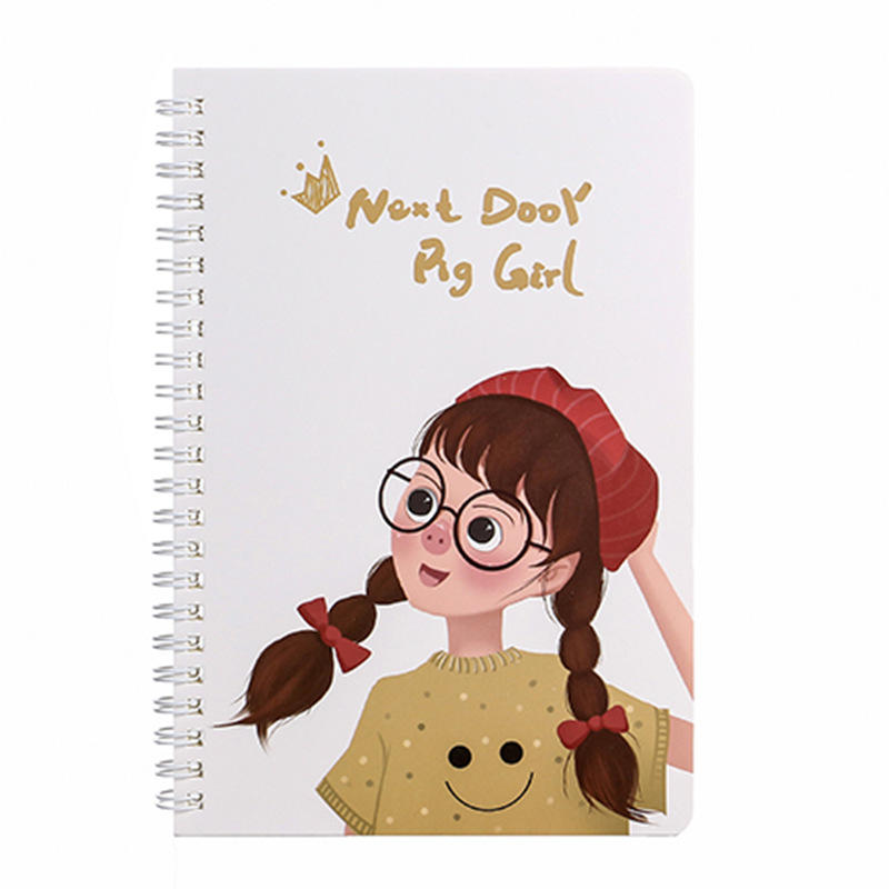 Accept Customized Cheap A5 Booklet Spiral Binding Cartoon Stories Book Blank Exercise Note Books
