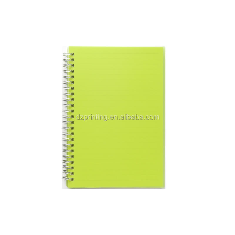 product-Hot Selling A5 Hard PP PVC Plastic Cover Spiral Notebook With Dot Gird Pages-Dezheng-img-1