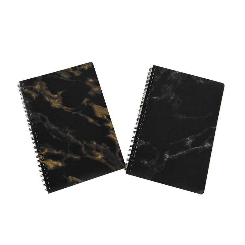Leopard Printed Sprial Binding Journal A5 Pu Leather Custom Black Marble Notebook,custom logo
