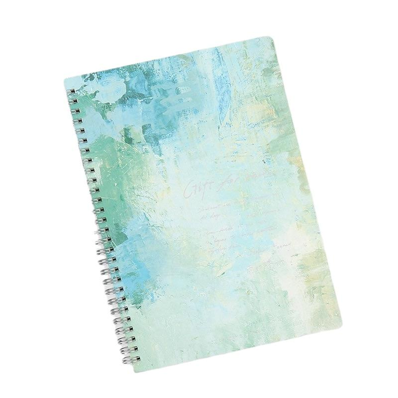 product-Custom A4 Lined 200 Page Spiral Binding Ring Notebook Writing Books For Children-Dezheng-img-1