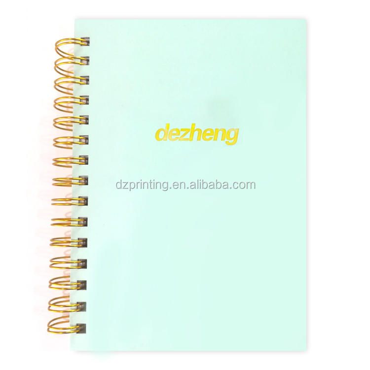 Personalize Hardcover Journal Thick Gold Spiral Notebook With Gold Foil Stamping Logo