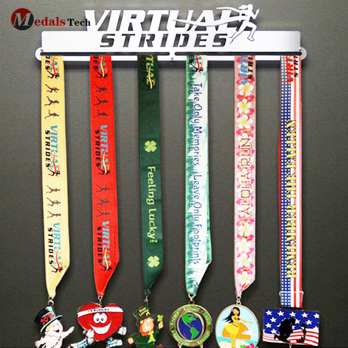 Stainless steel or iron custom metal running medal display hanger for sell