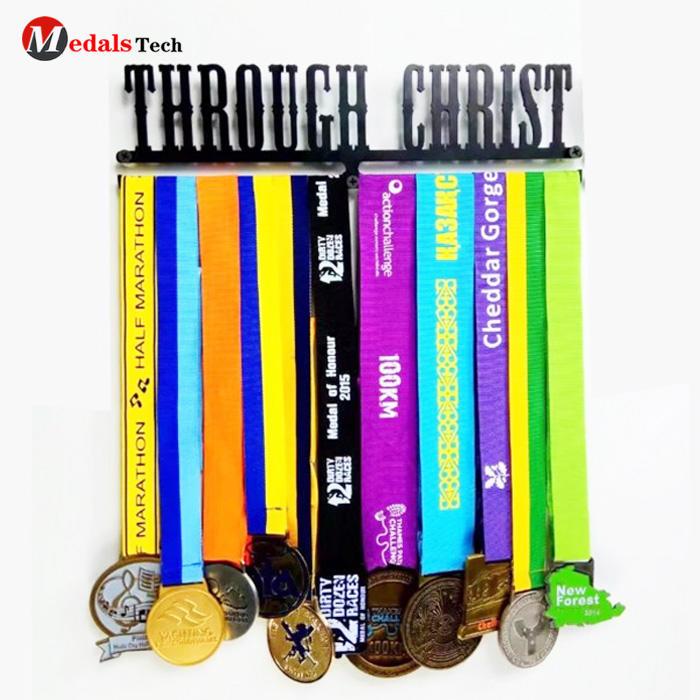 Customized logo metalrunner medal ribbon sport medal holder