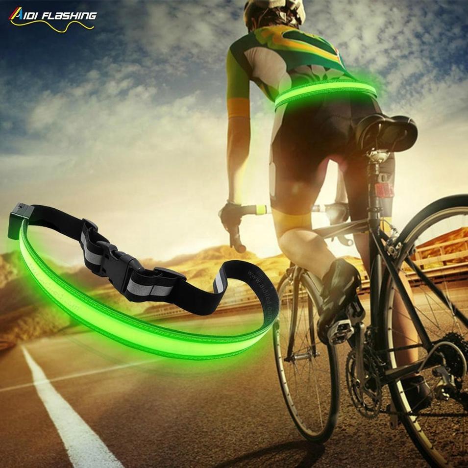 Reflective Led Belt NIght Running Necessity Belts with flashing Led USB Customized Logo Led Waist Belt
