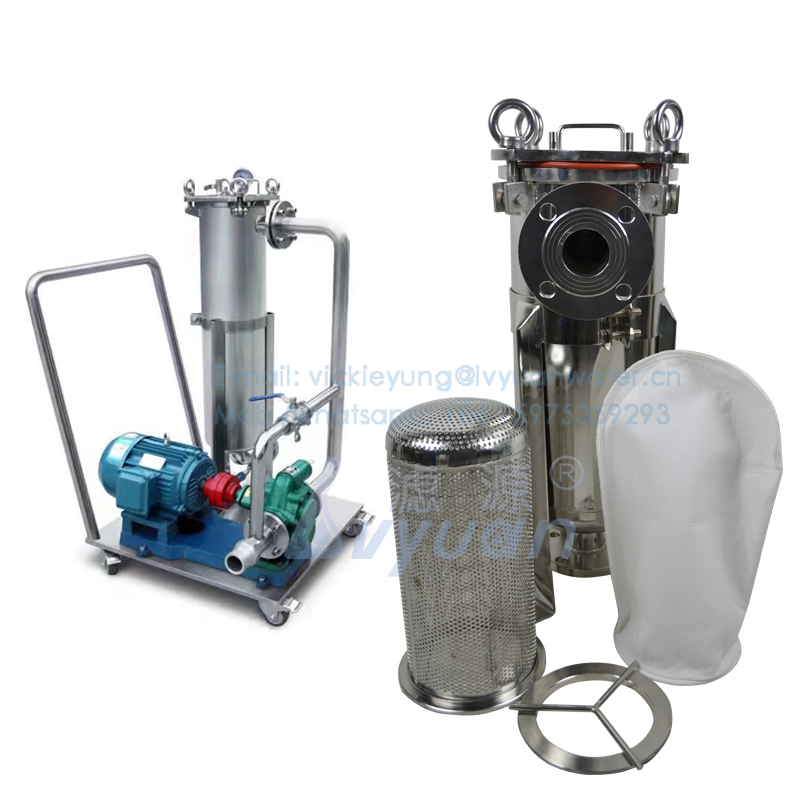 High quality stainless steel wheel pump single stage bag filter housing equipment for oil liquid gas treatment filter 50 microns