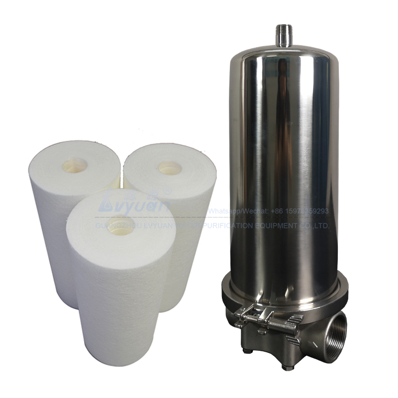 Jumbo stainless steel SS304 316L shell material 10 inch ro pre filter housing for 20 microns industrial water filter system