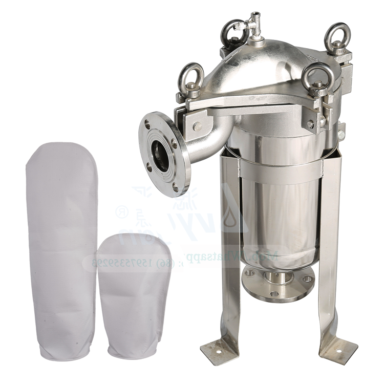 Industrial Filtration 304 316L Stainless Steel Bag Filter Housing