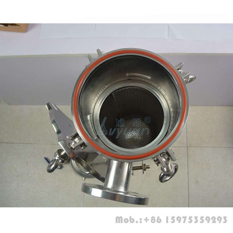 Quick swing bolt industrial 25T/H stainless steel case 304 316L bag oil filter housing with SS 304 wheel truck