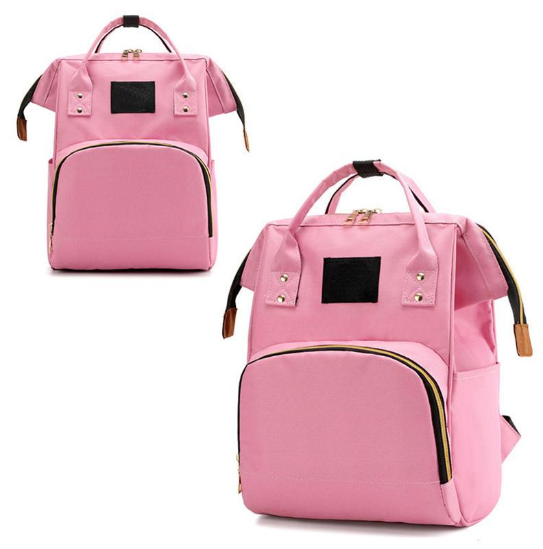 mochilas Solid Backpack School Travel Bag Double Shoulder Bag Multi-function Large Capacity Canvas Backpack Women Mummy Maternal Backpack