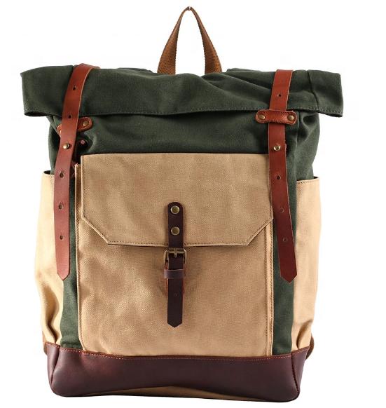 mochilas Multi-pocket Color matching Canvas school men backpacks British style Laptop rucksack backpack boys bag fashion leisure back bag