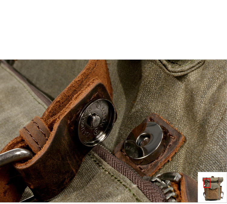 mochilas Wholesale Retro Mountaineering Men's Outdoor Bag Waterproof Waxed Canvas Men Laptop Backpack