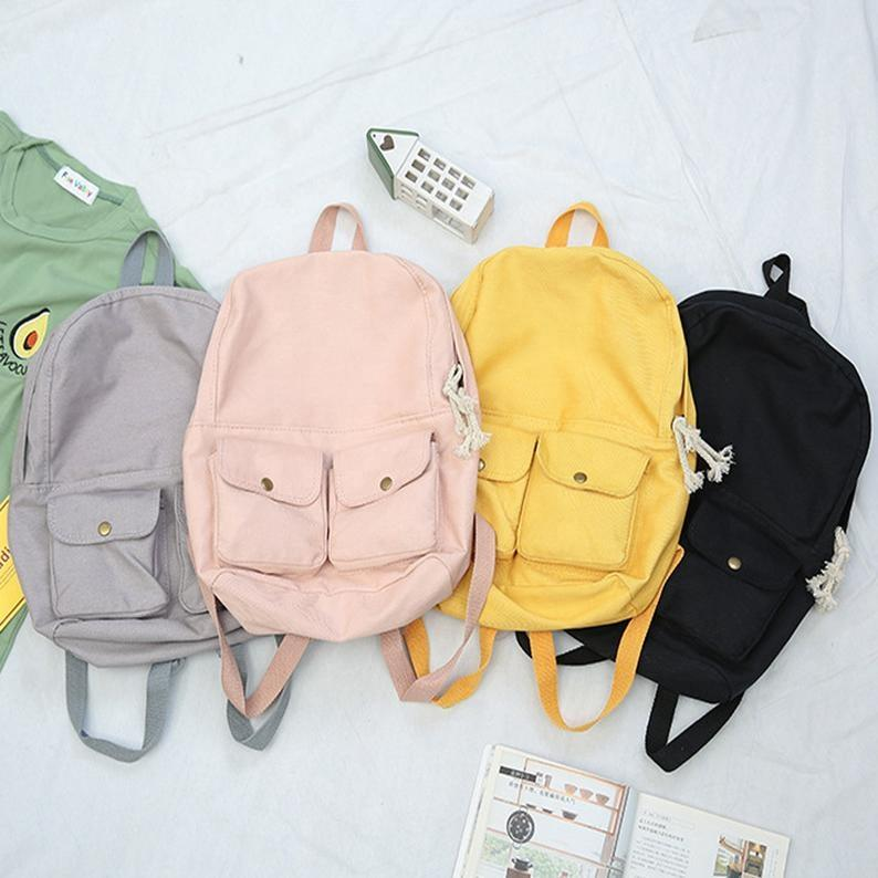 mochilas New Arrival Canvas Girl Leisure College School Backpack student Bags For Teenager Boys Girls Backpacks fashion Korean Harajuku