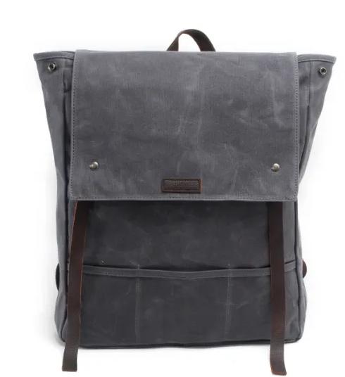 mochilas Wholesale Factory Design Leather Waterproof Canvas School Unisex Backpack Travel Backpack