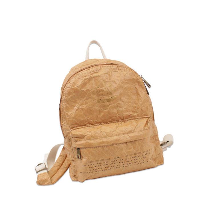 mochilas China Supplier Popular Washable Folded Kraft paper Unisex backpacks fashion design canvas school backpack for men women girls