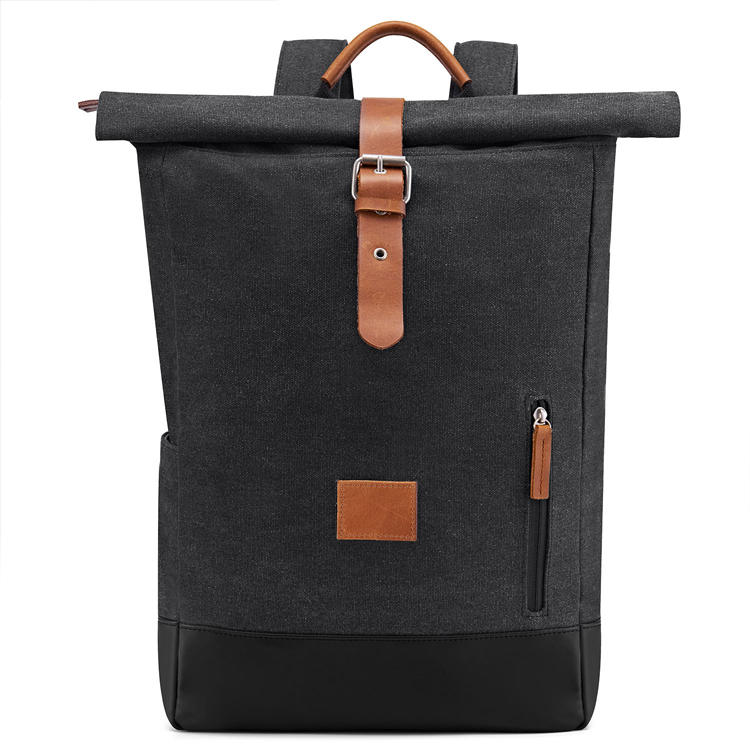 mochilas HikingComputers Laptop Canvas Bag Men Satchel Leather Vintage Waxed Canvas Backpack