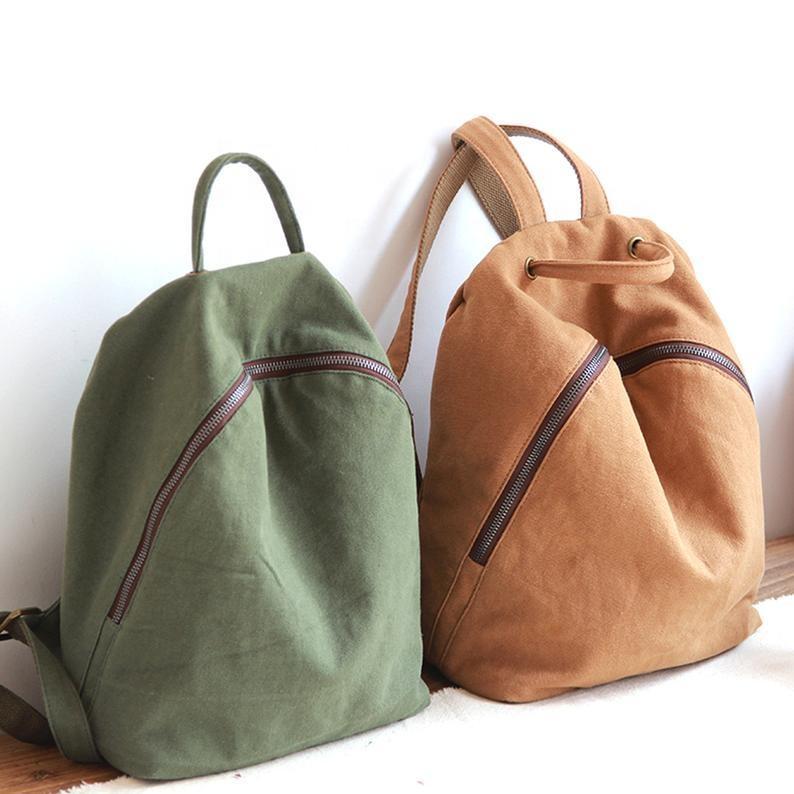 mochilas Customize Logo Unisex school Canvas backpacks boy men girl women Korean trend leisure travel Korean student backpack