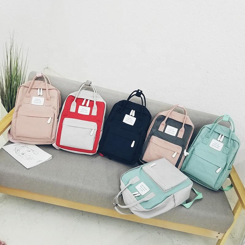 mochilas 2020 Fashion Travel Organizer Unisex Canvas backpacks Teen School girls boy women British Style Color Matching backpack backpack