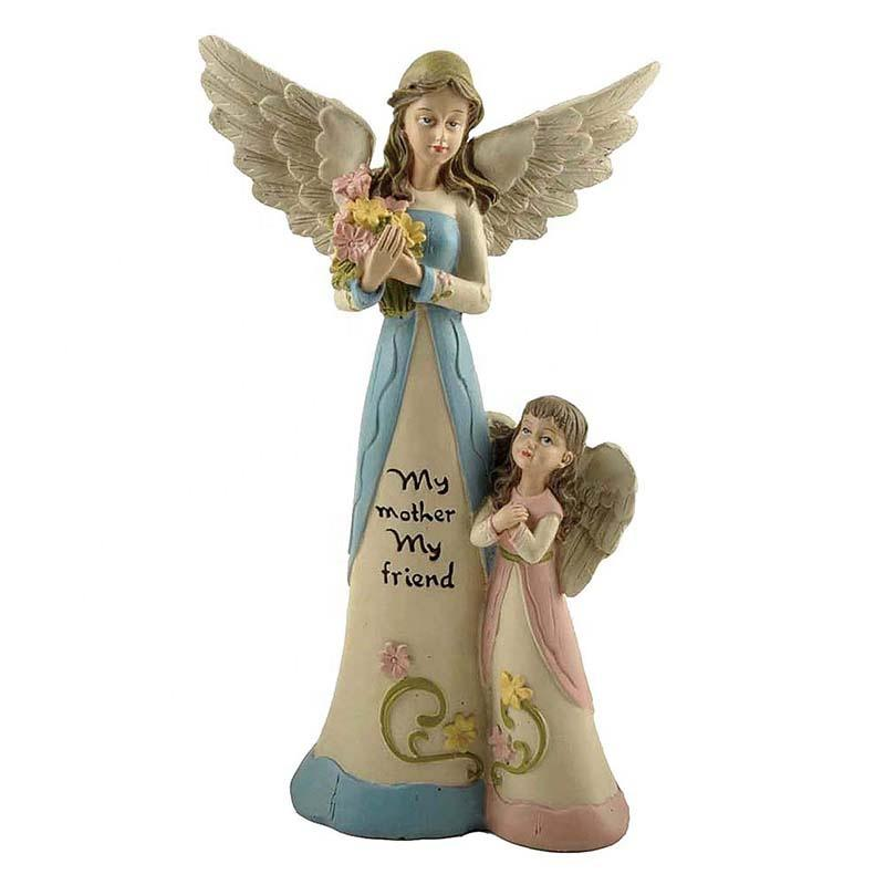 Stock Product Polyresin Flower Fairy Mother w/Daughter Spring / Garden Decoration