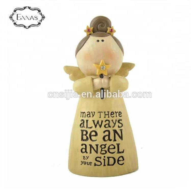 Christmas blessing angel decoration resin angel figurine