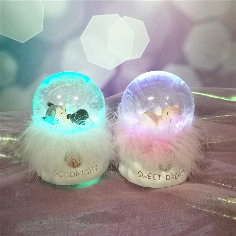 Natural Resin Angels Transparent Crystal ball Angelic Sleeping For Baby Room Decor Valentine Day Gift
