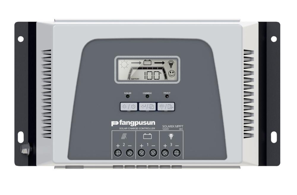 900W Panel System Fangpusun MPPT 30A Solar Regulator 12V 24V