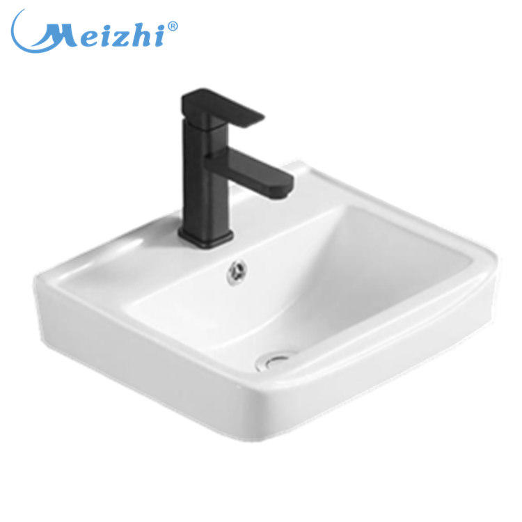 Small ceramic sanitary ware wash basin wall hung basin sink