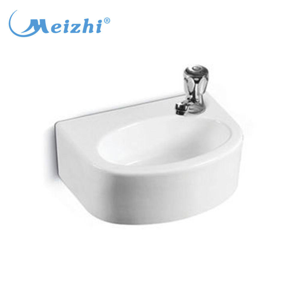 Wall hung Lavatory hand wash oval shape basin