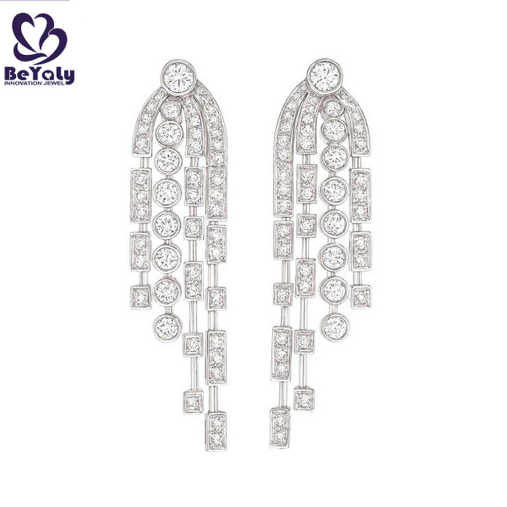 New arrival silver wing design earrings and chain set
