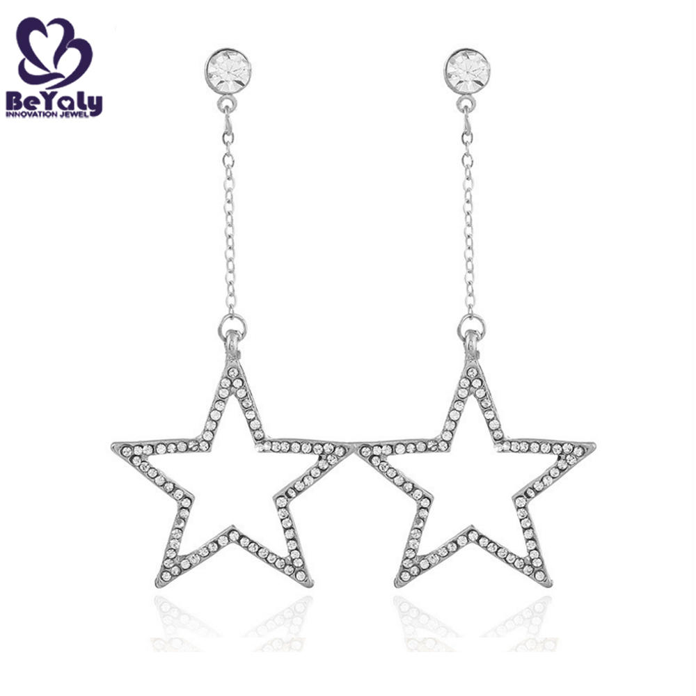Hollow design silver studs and spikes earrings for girls