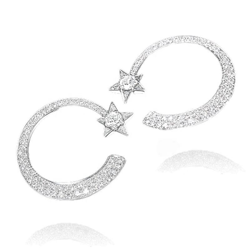 Boutique Moon And Star Design Girls Ear Rings For Women