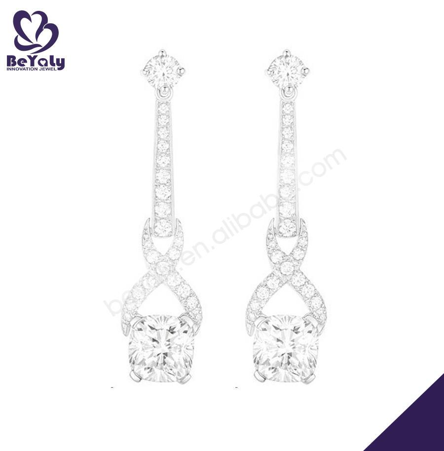 925 silver stone bijoux wedding fancy drop earrings