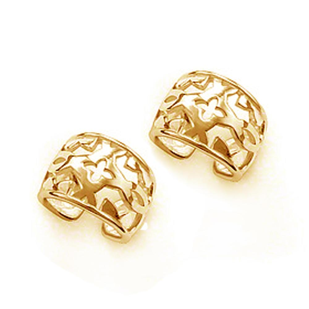 Shiny polished snake shaped silver jewelry ear cuff