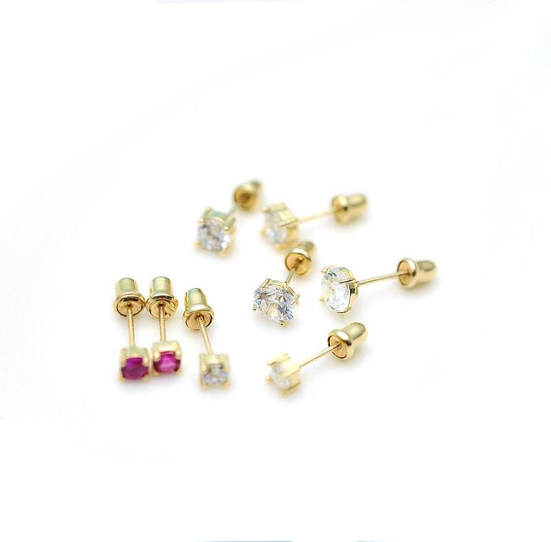 AAA Zircon 2 Gram Gold Beautiful Designed Earrings