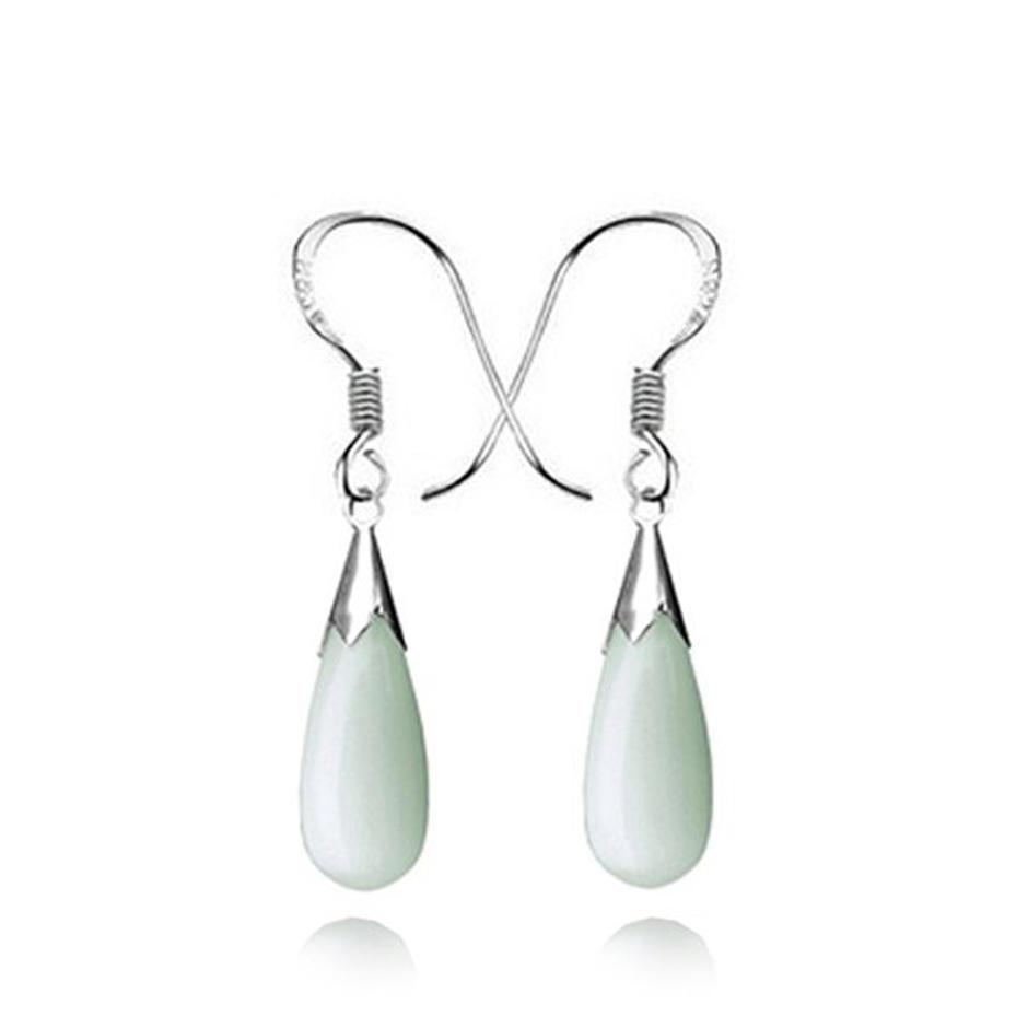 Agate and quartz setting 925 silver charm earrings