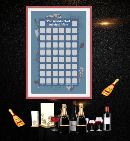 Scratch Offmap Bucket list Scratch OffPoster Red Wines ,Grape Winefor Amazon FBA,