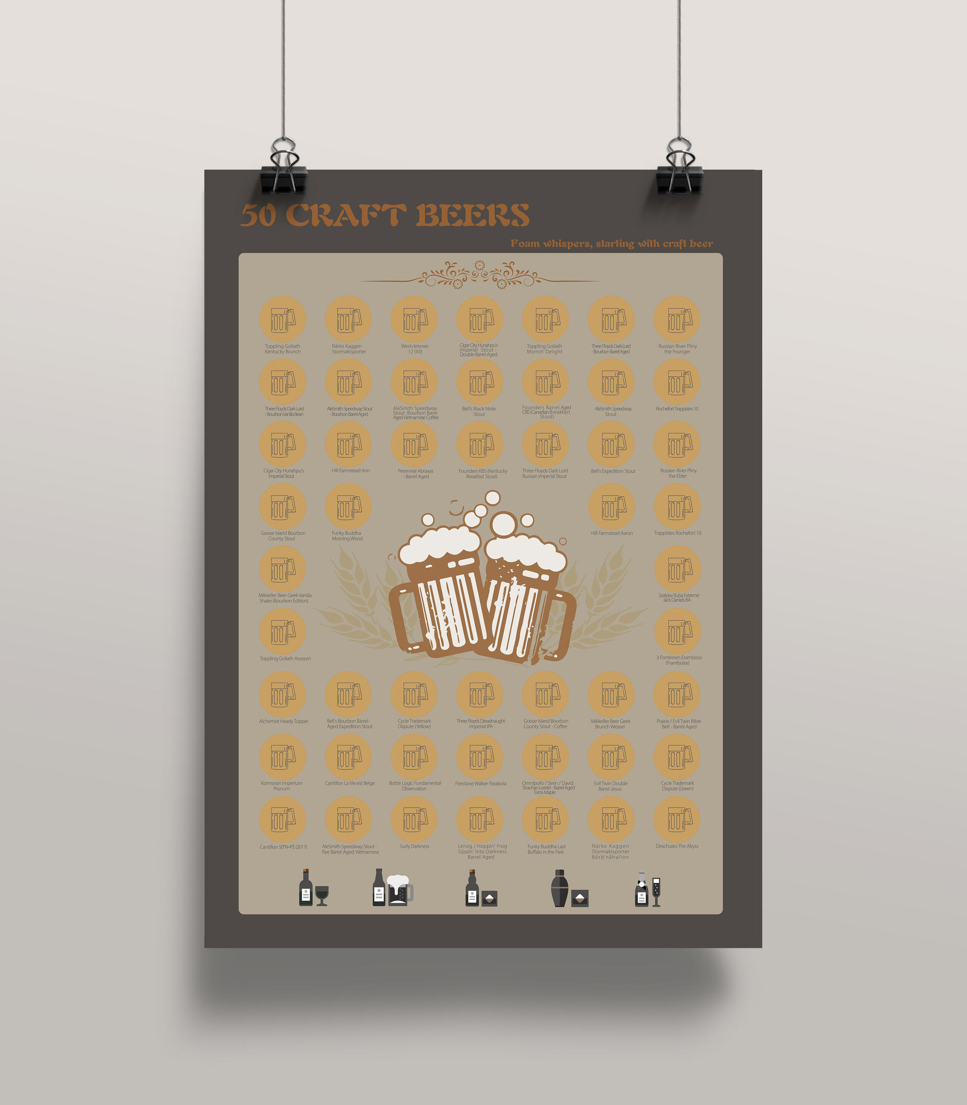 product-Must to Taste 50 cocktail Scratch Off Poster 50 Wines and 50 Beers Scratch Off Poster-Dezhen-3