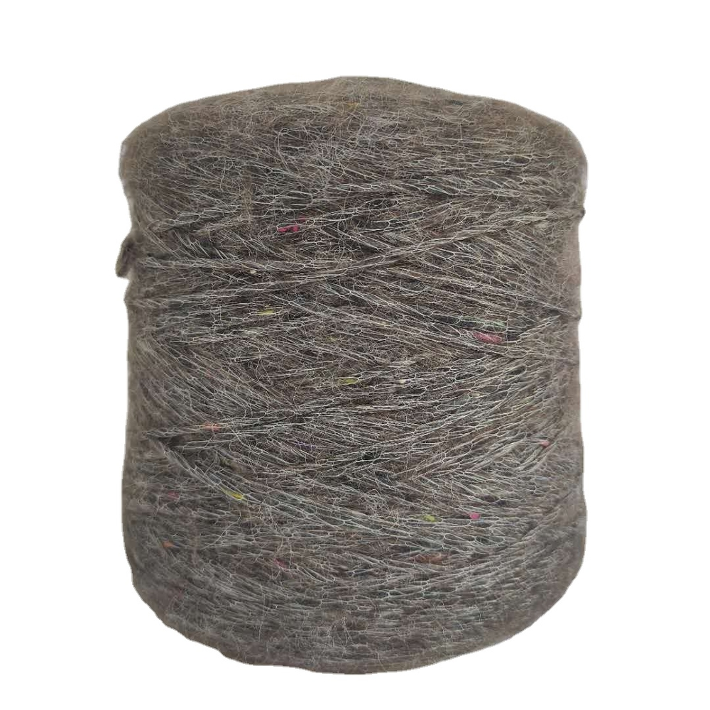 1/2.6Nm 38%nylon 27%wool feel soft thick and fineblended fancy yarn for knitting