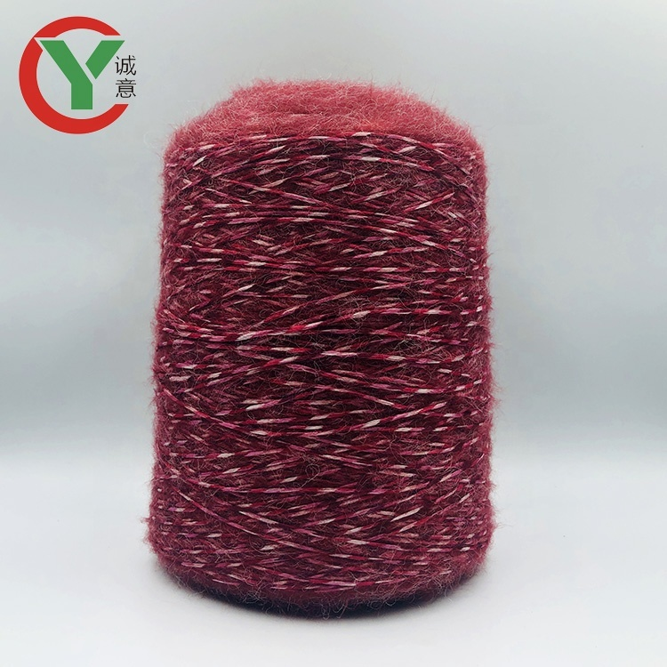 Factory wholesale 1/2.6Nm nylon blend wool yarn fancy yarn for knitting