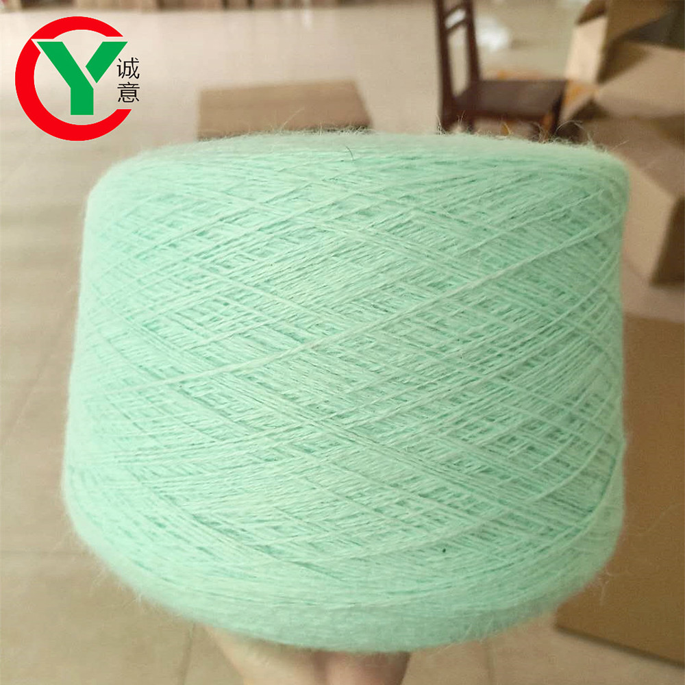 Wholesale best selling angora rabbit/nylon blended hand knitting fancy yarn