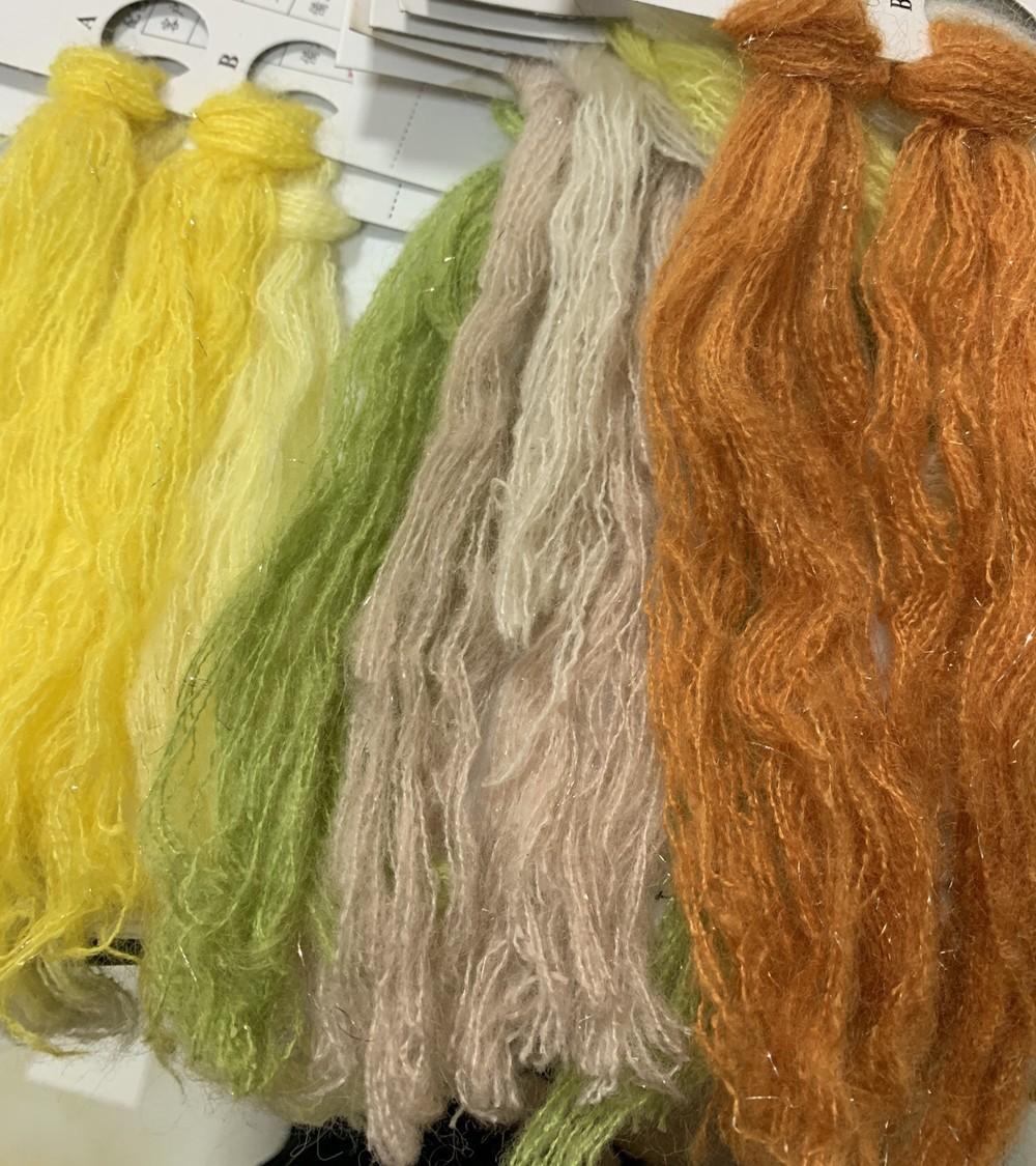 acrylic wool blend yarn withmetallic fancy yarn for hand make hat