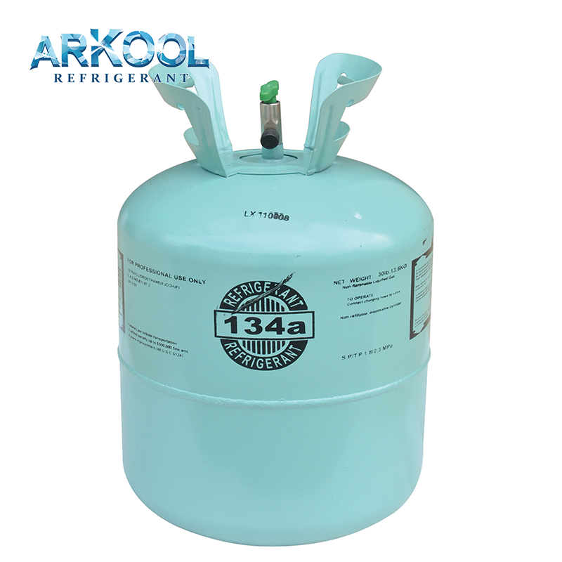 HFC-134a/R134a Refrigerant Gas Packed in 30lb 13.6kg package