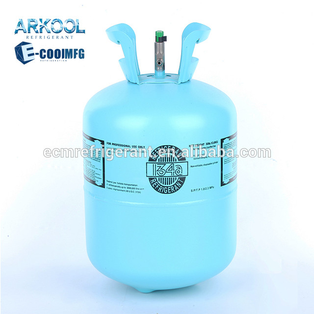 99.99% purity r 134a refrigerant gas r134 13 6kg
