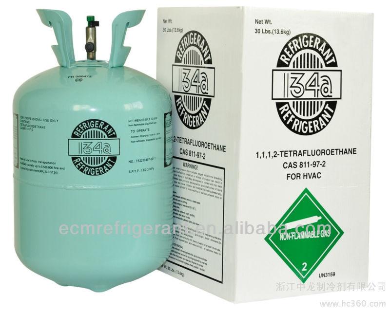 R134a refrigerant gas 13.6kg CAS 811-97-2 99.9% purity R134a factory price