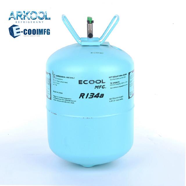 30lb 13.6kg refrigerant gas r134a high quality gas r134 with 99.9% purity