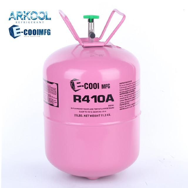Good price refrigerant gas 1000g 1kg r410a refrigerant gaz hot sale
