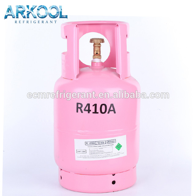 Gas refrigerant r410a r410 CE refillable cylinder