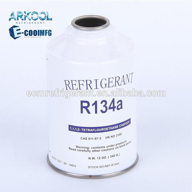 High purity super cool car cooling gas system r134a refrigerant gaz