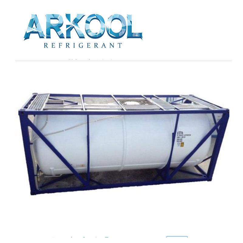 gas R152a+DME Dimethyl etherstandard ton ISO tank packing
