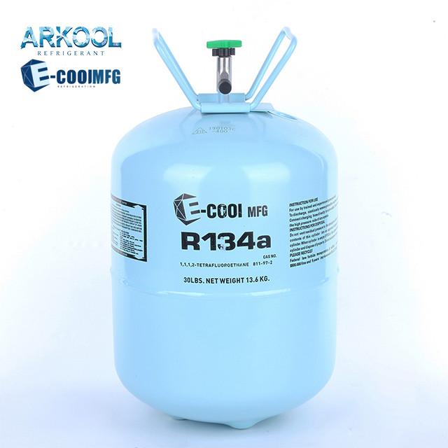 High quality refrigerant r134a 13.6kg 30lb blue cylinder